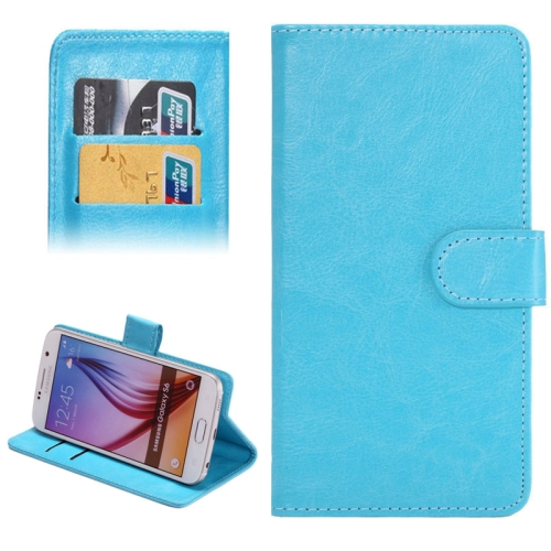 3.8-4.3 Inch Crazy Horse Texture 360 Degree Rotatable Universal Case for Samsung Galaxy SII/ i9100/ iPhone 4/ 4S/ 5/ 5C/ 5S (Blue)