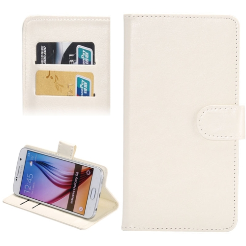 3.8-4.3 Inch Crazy Horse Texture 360 Degree Rotatable Universal Case for Samsung Galaxy SII/ i9100/ iPhone 4/ 4S/ 5/ 5C/ 5S (White)