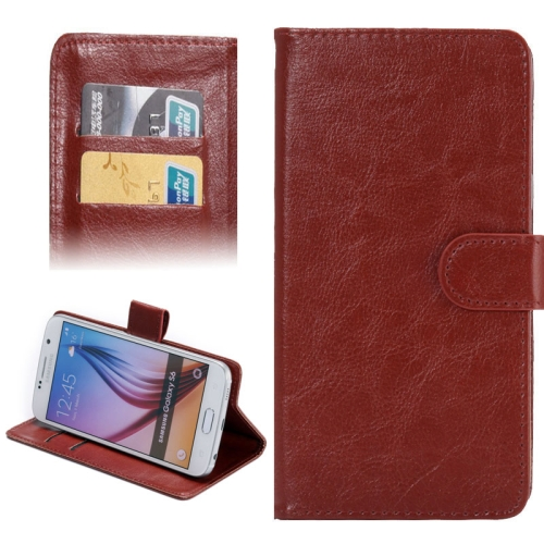 3.8-4.3 Inch Crazy Horse Texture 360 Degree Rotatable Universal Case for Samsung Galaxy SII/ i9100/ iPhone 4/ 4S/ 5/ 5C/ 5S (Brown)