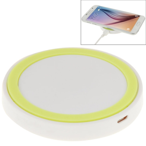 Qi Standard Wireless Charging Pad for Samsung / Nokia / HTC and Other Mobile Phones (White+Green)