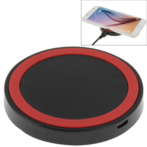 Qi Standard Wireless Charging Pad for Samsung / Nokia / HTC and Other Mobile Phones (Red+Black)