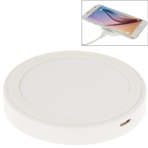 Qi Standard Wireless Charging Pad for Samsung / Nokia / HTC and Other Mobile Phones (White)