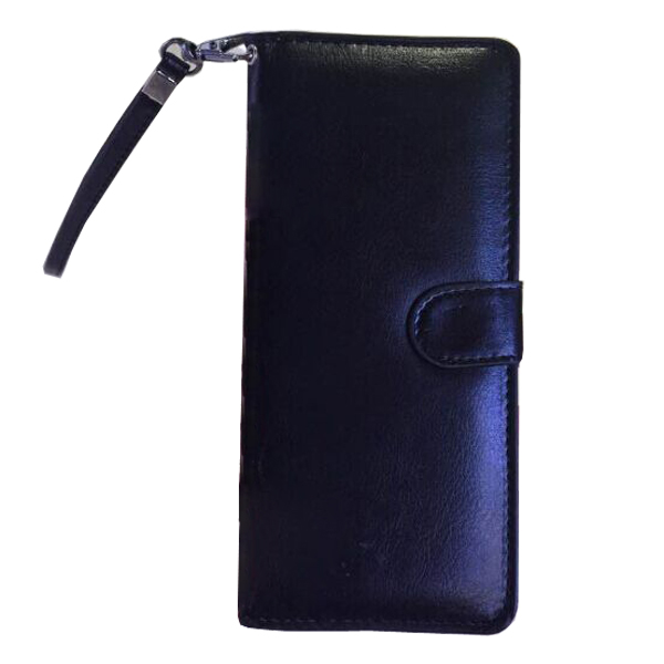 5.0 Inch Universal Wallet Flip Leather Cover with Card Slots (Black)