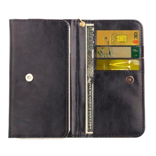 5.0 Inch Universal Crazy Horse Texture Wallet Case for iPhone 6/ 6S/ 5/ 5S/ 5C/ Sony Xperia E4/ M4 Aqua (Black)