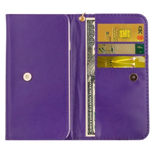 5.0 Inch Universal Crazy Horse Texture Wallet Cover for Samsung galaxy S6 Edge/ G9250/ S6/ G9200 S5/ G9006V/ iPhone 6 Plus (Purple)