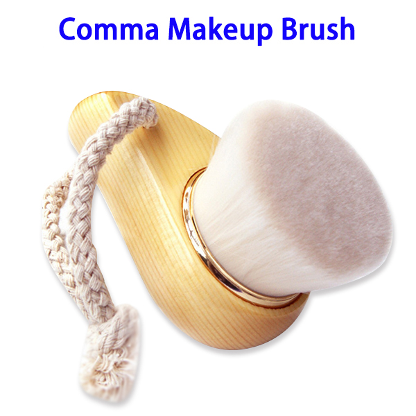Professional Comma Cosmetic Deep Cleaning Pore Head Facial Cleansing Brush (Gold Loop)