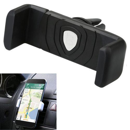 Universal Clip Design Baseus Mini Shield Plus Series Air Vent Car Mount Holder (Black)