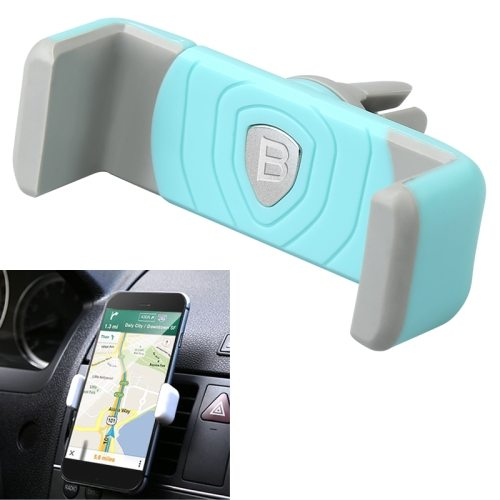 Universal Clip Design Baseus Mini Shield Plus Series Air Vent Car Mount Holder (Blue)