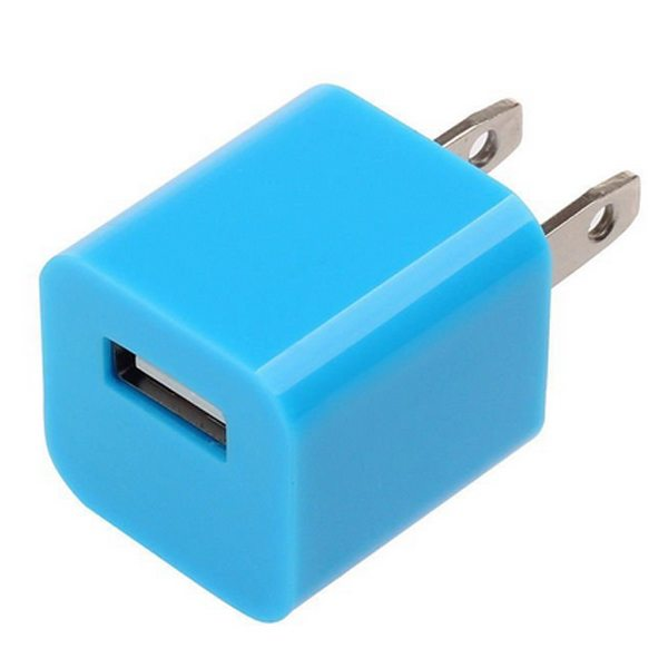Home Travel USB Wall Charger Adapter for Mobile Phone (Blue)
