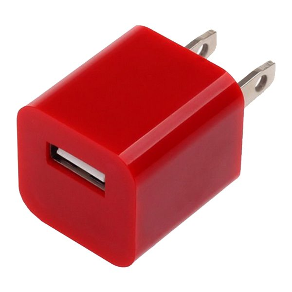 Home Travel USB Wall Charger Adapter for Mobile Phone (Red)