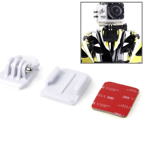 SIXXY Gopro Helmet Curved Surface + 3M VHB Sticker + Stand Adhesive Mount Kit for GoPro Hero 4 / 3+ / 3 / 2 (White)