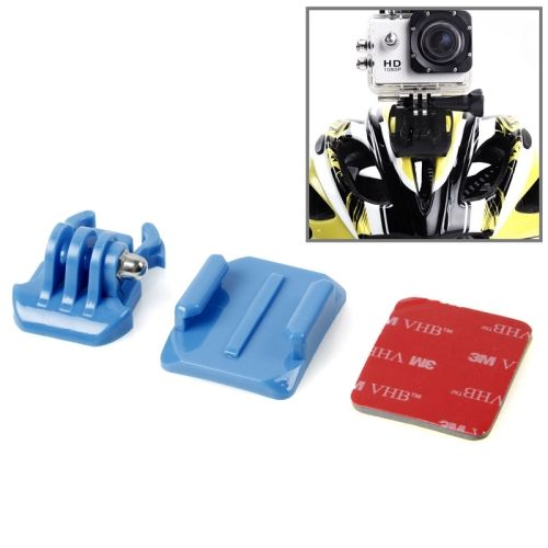SIXXY Gopro Helmet Curved Surface + 3M VHB Sticker + Stand Adhesive Mount Kit for GoPro Hero 4 / 3+ / 3 / 2 (Blue)