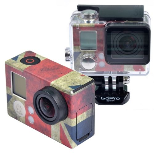Retro Flag Pattern Case Sticker for GoPro Hero 3+ (UK Flag)
