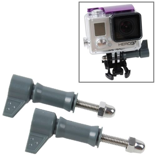 2 Pcs / Lot TMC HR213 L-Shape Tighter Torque Long Screw for GoPro Hero 3+ / 3 / 2 (Gray)