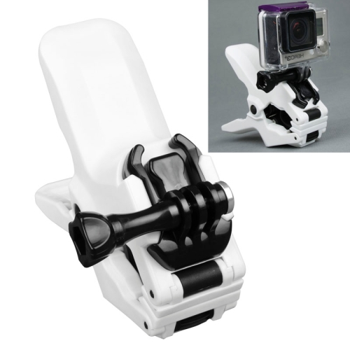 TMC Jaws Flex Clamp Mount with Buckle & Thumb Screw for GoPro Hero 4 / 3+ / 3 / 2 (White)