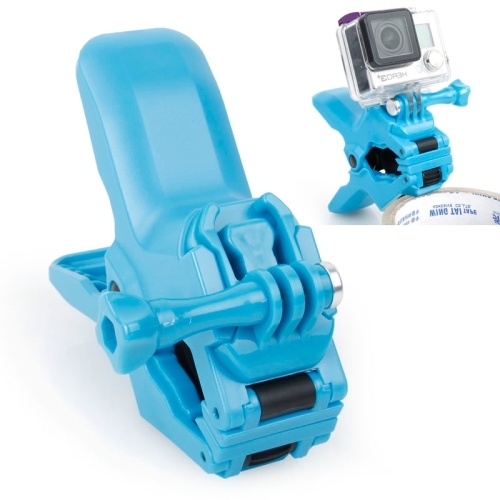 TMC Jaws Flex Clamp Mount with Buckle & Thumb Screw for GoPro Hero 4 / 3+ / 3 / 2 (Blue)