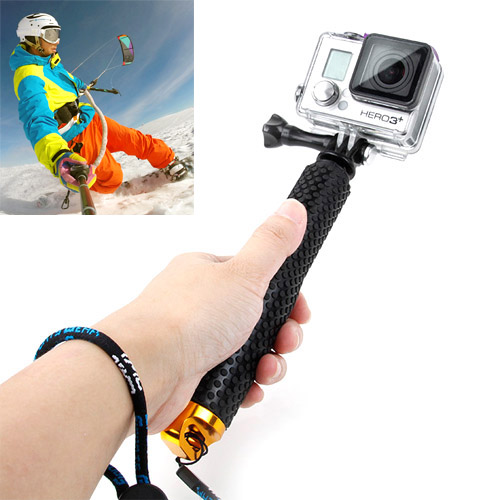 TMC Handheld Extendable Pole Seflie Stick Monopod with Screw for GoPro Hero 4 / 3+ / 3 / 2 (Yellow)