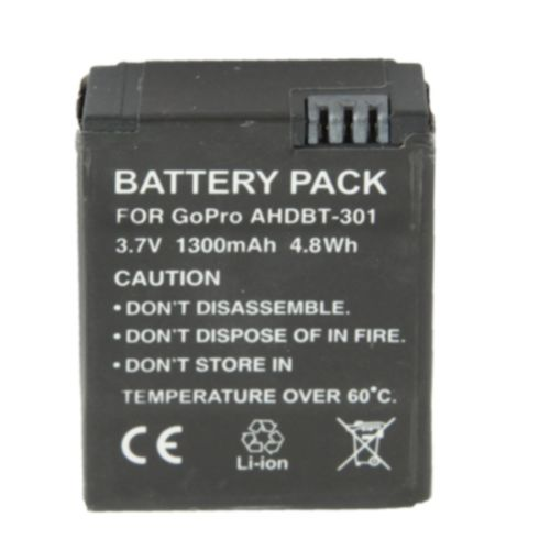 AHDBT-301 1300mAh Gopro Battery for Gopro HD Hero3 Digital Camera