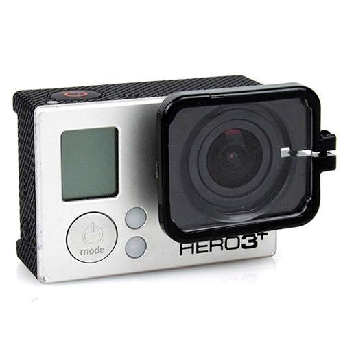 TMC Anti-Exposure Protective Lens Hood Cover for GoPro Hero 4 / 3+ (Black)