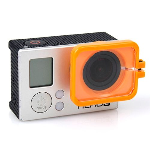TMC Anti-Exposure Protective Lens Hood Cover for GoPro Hero 4 / 3+ (Orange)