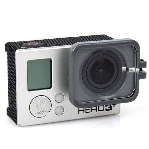 TMC Anti-Exposure Protective Lens Hood Cover for GoPro Hero 4 / 3+ (Gray)