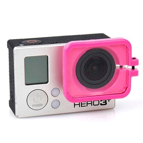 TMC Anti-Exposure Protective Lens Hood Cover for GoPro Hero 4 / 3+ (Rose)