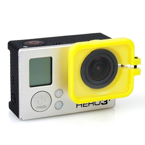 TMC Anti-Exposure Protective Lens Hood Cover for GoPro Hero 4 / 3+ (Yellow)