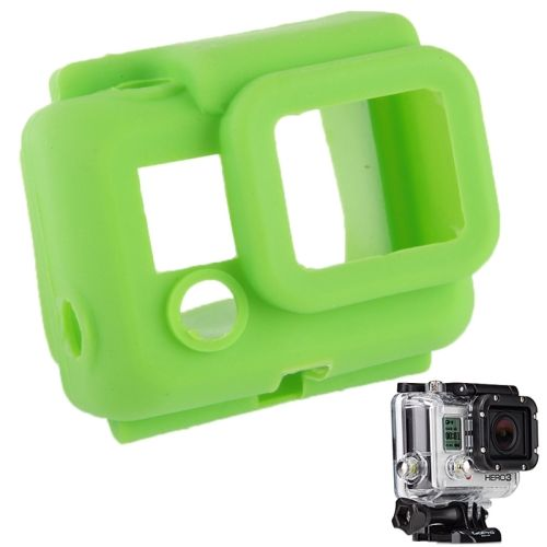 Protective Silicone Shockproof Case for GoPro Hero 3 (Green)