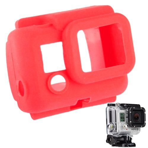 Protective Silicone Shockproof Case for GoPro Hero 3 (Red)
