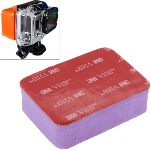 Anti Sink Waterproof case Float Box with 3m Adhesive Tape for Go Pro Hero 4 / 3+ / 3 / 2 / 1