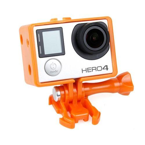 TMC BacPac Frame Mount Housing Case for GoPro Hero 4 / 3+ (Orange)