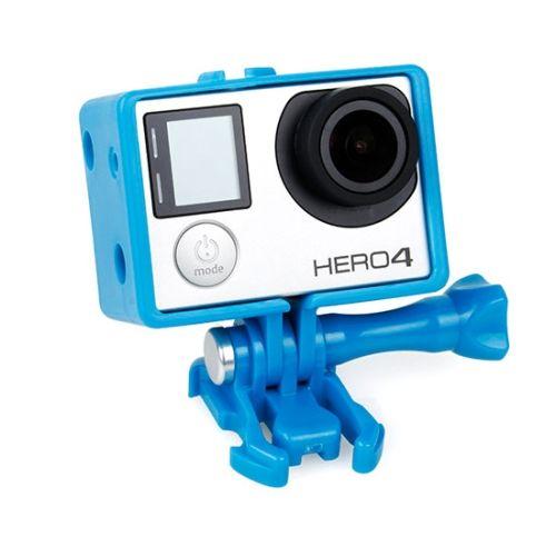 TMC BacPac Frame Mount Housing Case for GoPro Hero 4 / 3+ (Blue)