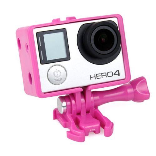 TMC BacPac Frame Mount Housing Case for GoPro Hero 4 / 3+ (Pink)