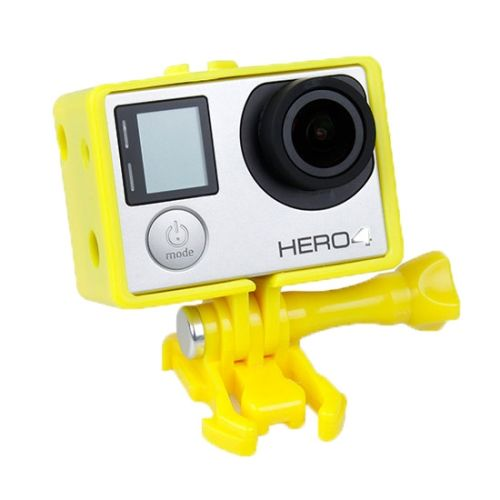 TMC BacPac Frame Mount Housing Case for GoPro Hero 4 / 3+ (Yellow)