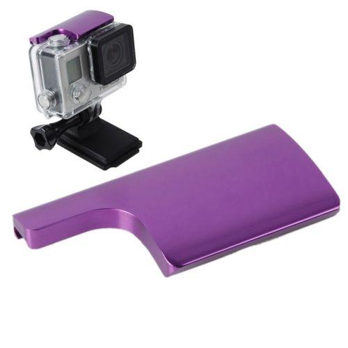 TMC CNC Aluminum Back Door Clip Safety Lock Buckle for Gopro Hero 4 / 3+ (Purple)