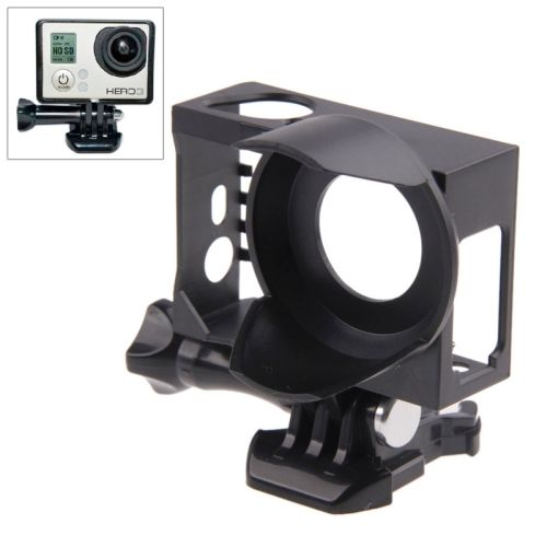 Superior Frame With Lens Sunshade Mount Housing for GoPro Hero 3+/3