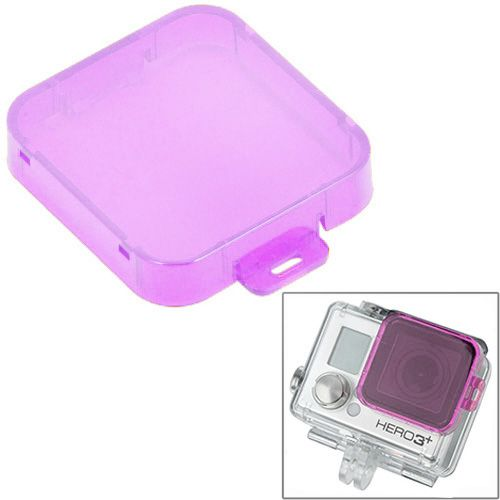 Professional Snap-on Style Dive Filter Housing for HD Gopro Hero 4 / 3+ (Purple)