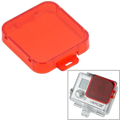 Professional Snap-on Style Dive Filter Housing for HD Gopro Hero 4 / 3+ (Red)