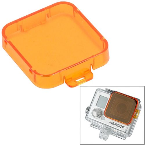 Professional Snap-on Style Dive Filter Housing for HD Gopro Hero 4 / 3+ (Orange)