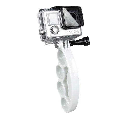 Plastic Knuckles Fingers Grip with Thumb Screw for Go Pro Hero 4 / 3+ / 3 / 2 (White)