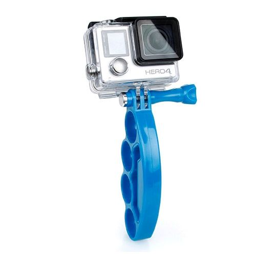 Plastic Knuckles Fingers Grip with Thumb Screw for Go Pro Hero 4 / 3+ / 3 / 2 (Blue)