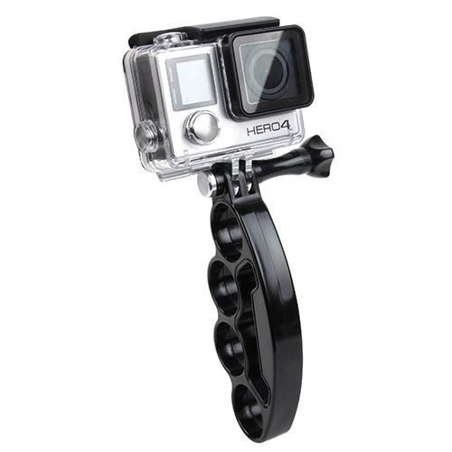 Plastic Knuckles Fingers Grip with Thumb Screw for Go Pro Hero 4 / 3+ / 3 / 2 (Black)