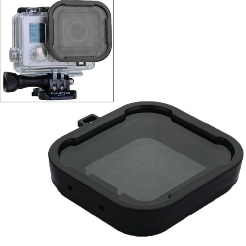 Cube Snap-on Dive Housing Glass Filter for HD Gopro Hro 3+ (Black)