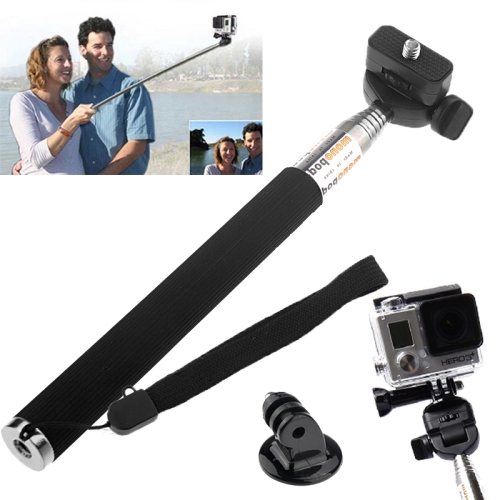 ST-55 Extendable Selfie Stick Monopod for Gopro Hero 4 / 3+ / 3 / 2 / 1 with Tripod Mount Adapter (Black)