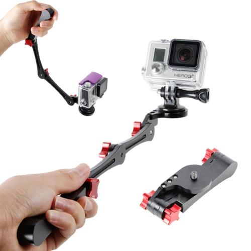 Foldable Pocket Stabilizer Grip Mount Monopod for GoPro Hero 4 / 3+ / 3 / 2 (Black)