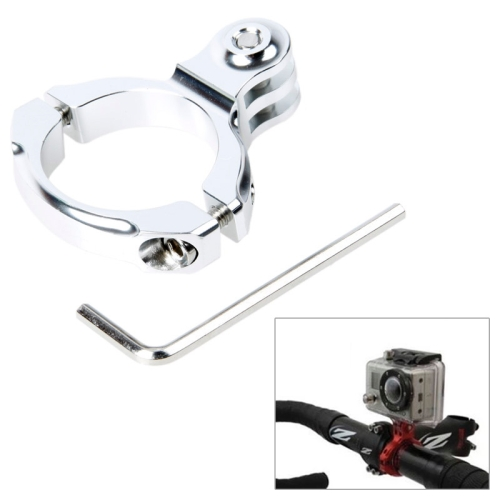 TMC Bike Aluminum Handle Bar Standard Mount for GoPro Hero 4 / 3+ / 3 / 2 (Silver)