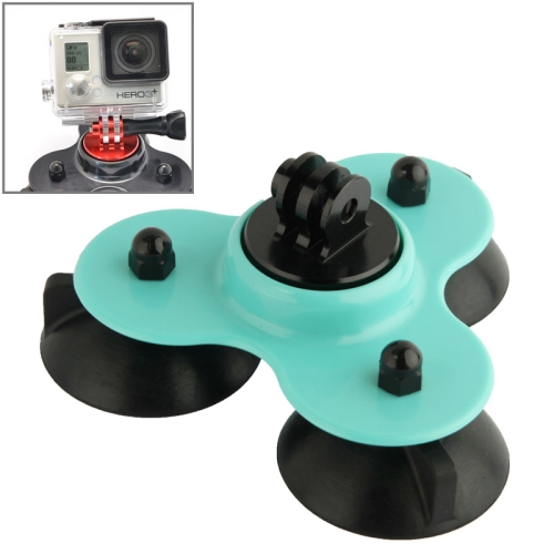 Coyote Style Suction Cup + Tripod Mount + Handle Screw for GoPro Hero 4 / 3+ / 3 / 2 (Green)