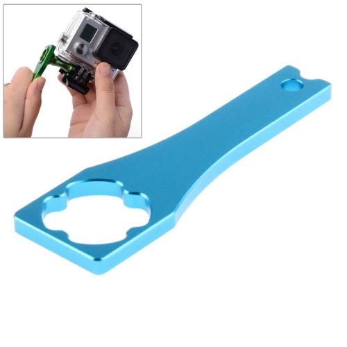 Metal Screw Rod Power Wrench Screw Cap Wrench Tools for Gopro Hero 4 / 3+ / 3 / 2 (Light Blue)