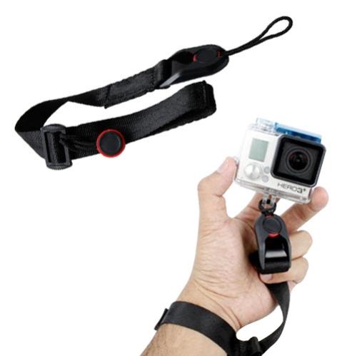 Cheap Adjustable Quick Release Camera Cuff Wrist Strap for GoPro Hero 4 / 3+ / 3 / 2 (Black)