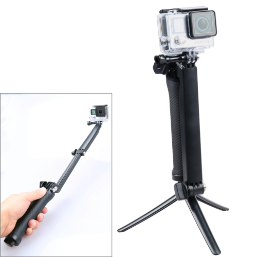 3-Way Extendable Monopod Tripod Rotating Arm Camera Holder for Gopro Hero 4 / 3+ / 3, SJ4000 / SJ6000